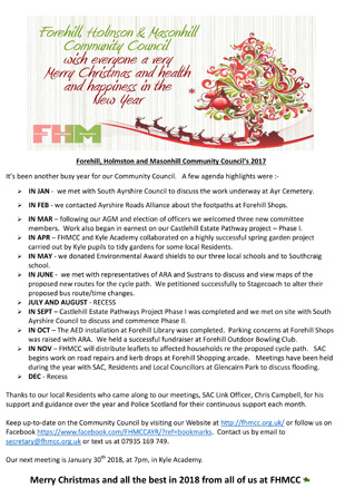 Download the Christmas Card and Newsletter